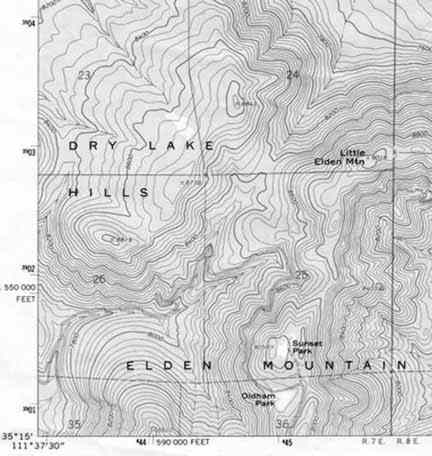 Topographic Map Of A Mountain.How To Read Topographical Maps