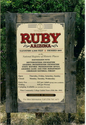 Ruby Arizona Map.Ruby Arizona Ghost Town